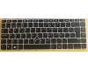 Brand New HP Elitebook 745 G3 840 G3 848 G3 Keyboard With Point Stick Silver Frame Black Spanish